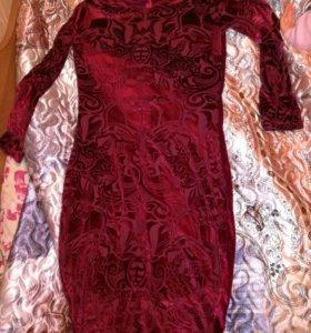Платье новое бархатное
