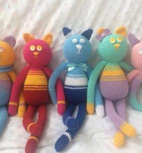 Вязаные котики Аминеко