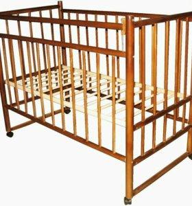Кроватка новая (орех)