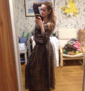 Шикарное леопардовое платье р 44-48