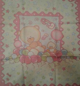 Детское байковое одеяльце 100*110
