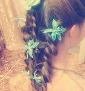 Причёска плетение