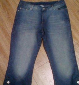 Капри джинсовые.новые 46-48