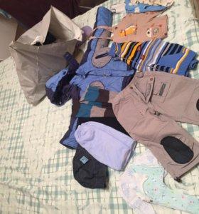 Пакетом одежда на мальчика от 0 до 2 лет