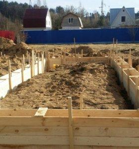 дом, фундамент, крыша, навес, гараж,канализация