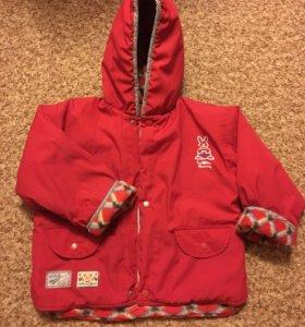 Куртка на девочку 104-110 размер