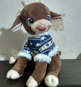 Мягкая игрушка овечка- козлик новая