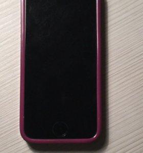 iPhone 5s оригинал + 2 чехла)