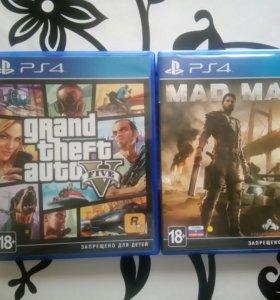 Gta 5 и Mad Max (ps4)