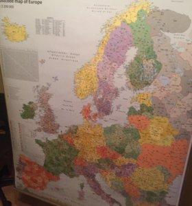 Карта Европы с индексами