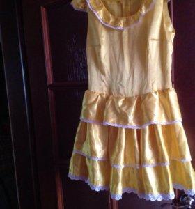 Атласное ретро платье винтаж