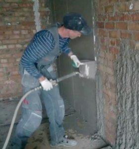 Мини станция Хопер-ковш для штукатурки стен
