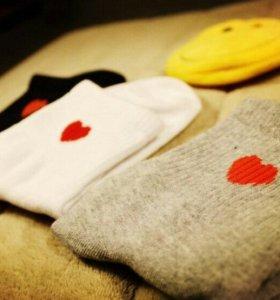 Носочки с сердечком (новые)