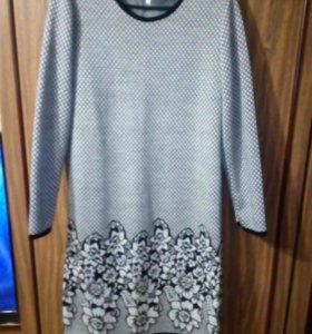Платье трикотаж с шерстью