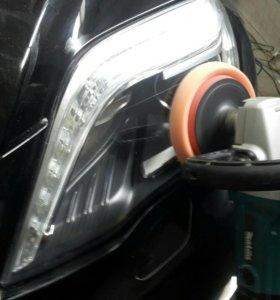 Полировка фар и лакокрасочного покрытия автомобиля