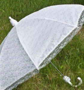 Свадебный непромокаемый кружевной зонт