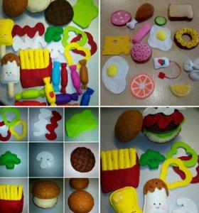 Еда из фетра для детских игр