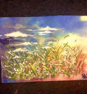 Картина Пейзаж в ярких красках.