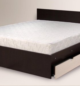 Кровать с ящиками 1.6*2.0 матрас в подарок