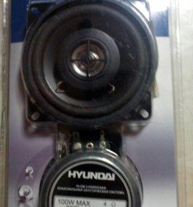 HYUNDAI 10см 2- полосная коаксиальная акустическая