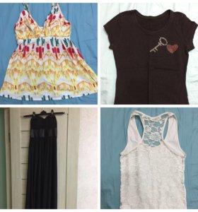 Вещи пакетом одежда. Платье,джинсы,футболка р-р42