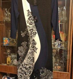 Платье классика с цветами