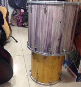 Барабан двусторонний дхол