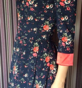 вельветовое платье с подкладом