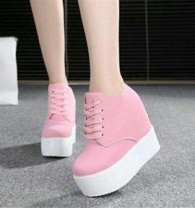 Молодёжные ботиночки на высокой платформе
