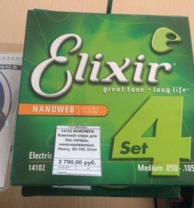 Струны для бас-гитары Elixir Nanoweb 14102