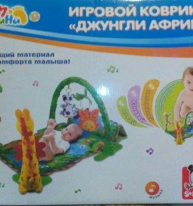 Детский развивающийся игровой коврик