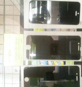 Чёрные стёкла на IPHON 5,6,7