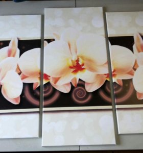 """Модульная картина """"Орхидея 3D"""""""