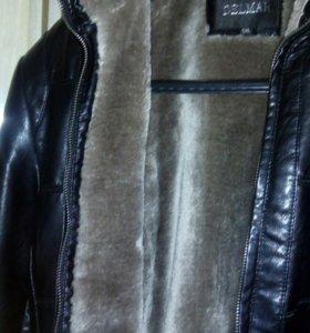 Куртка кожа,утепленная52-54.