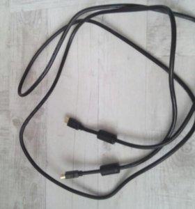 кабель hdmi с переходником Мини hdmi в комплекте