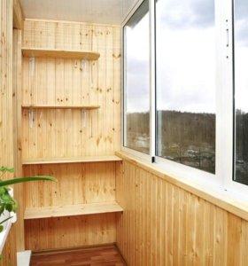 Утепление отделка балкона окон