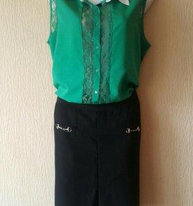 Блузка и юбочка.