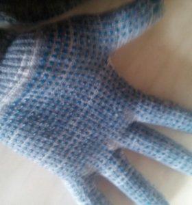 новые хб перчатки пвх точка,4н,10класс,22-23см