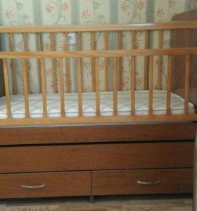 Кровать детская трансформер, с маятником 2 в 1