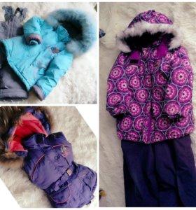 Продам пакетом зимние комплекты для девочки
