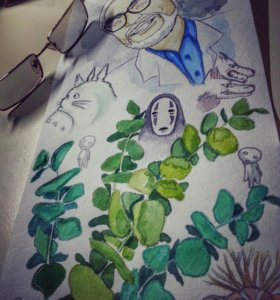 рисую аниме.