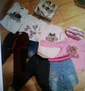 Одежда и обувь для девочек пакетом