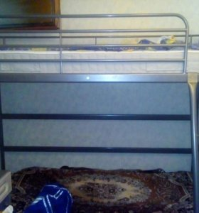 Кровать чердак с матрасом