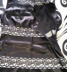 Атласное платье 42-44 размер