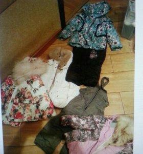 Детская одежда и обувь большой коробкой