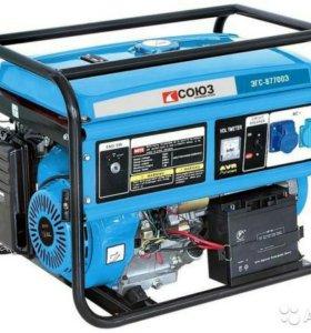 Бензиновый генератор союз эгс 87700 Э, 6500 вт