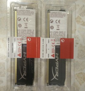 Новые DDR3-1600 2x4GB Kingston HyperX FURY Black