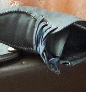 Ботинки зимние на меху кожаный