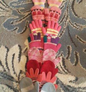 Детские варежки и перчатки