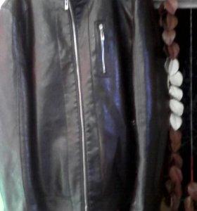 Куртка кожаная весна осень.размер 46